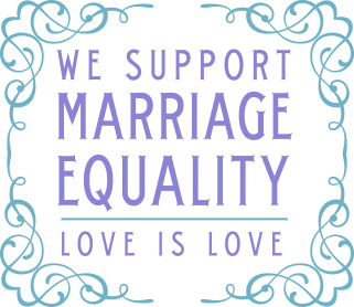 we support marriage equality